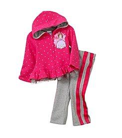 Nannette® Girls' 2T-6X 2-Piece Sofia Hoodie Set