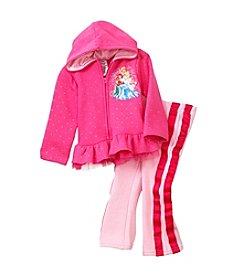 Nannette® Girls' 2T-6X 2-Piece Princess Hoodie Set