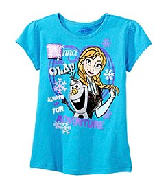 Nannette® Girls' 7-12 Short Sleeve Anna and Olaf Tee