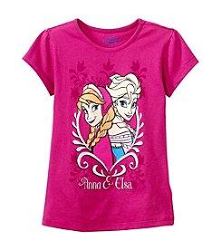 Nannette® Girls' Short Sleeve Anna and Elsa Tee