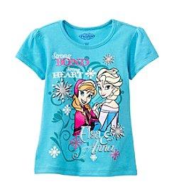 Nannette® Girls' 7-12 Short Sleeve Anna And Elsa Tee *