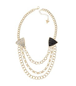 Guess Goldtone Multi-Chain Necklace