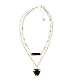 Guess Goldtone Double Row Pendant