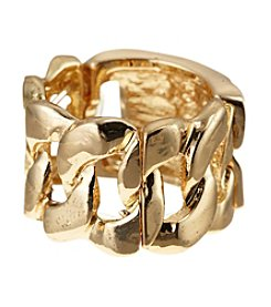 Guess Goldtone Stretch ID Ring
