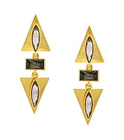 Vince Camuto™ Goldtone Three Part Clip Earrings