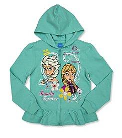 Nannette® Girls' 2T-12 Elsa And Anna Full Zip Hoodie *
