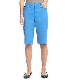 Bandolino® Ivette Bermuda Twill Shorts