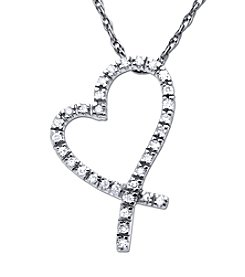 0.10 ct. t.w. Diamond Pendant Necklace in 10K White Gold