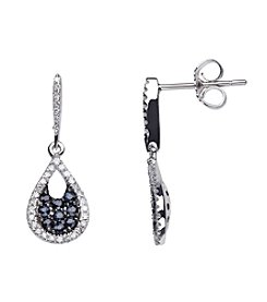 Sapphire and .21 ct. t.w. Diamond Earrings in 10K White Gold