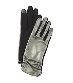 Echo Design Touch Ruched Leather Gloves