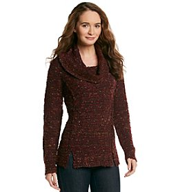Fever™ Cowlneck Textured Sweater