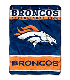 Denver Broncos 12th Man Raschel Throw