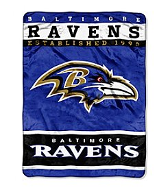 Baltimore Ravens 12th Man Raschel Throw