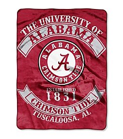 University of Alabama Rebel Raschel Throw
