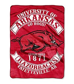 University of Arkansas Rebel Raschel Throw