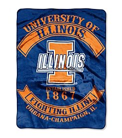 University of Illinois Rebel Raschel Throw