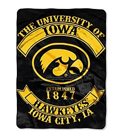 University of Iowa Rebel Raschel Throw