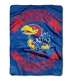 University of Kansas Rebel Raschel Throw