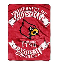 University of Louisville Rebel Raschel Throw