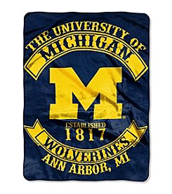 University of Michigan Rebel Raschel Throw