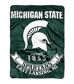 Michigan State University Rebel Raschel Throw
