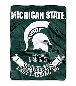Michigan State University Rebel Raschel Throw