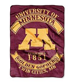 University of Minnesota Rebel Raschel Throw
