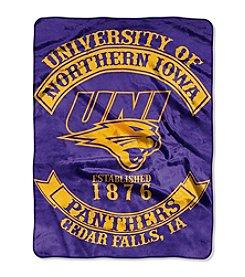 University of Northern Iowa Rebel Raschel Throw