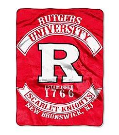 Rutgers University Rebel Raschel Throw