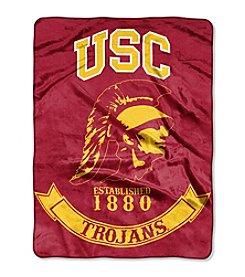 University of Southern California Rebel Raschel Throw