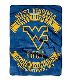 West Virginia University Rebel Raschel Throw