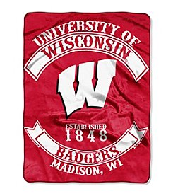 Northwest Company NCAA® Wisconsin Badgers Rebel Raschel Throw