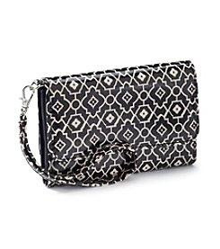 Relativity® Black/Cream Midi Cell Wristlet