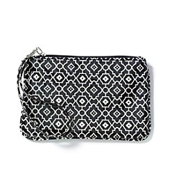 Relativity® Black/Cream Wristlet