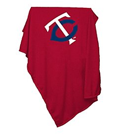 Minnesota Twins Logo Chair Red Sweatshirt Blanket