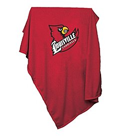 University of Louisville Logo Chair Sweatshirt Blanket