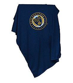 MLS Philadelphia Union Logo Chair Sweatshirt Blanket