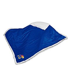 University of Kansas Logo Chair Sherpa Throw