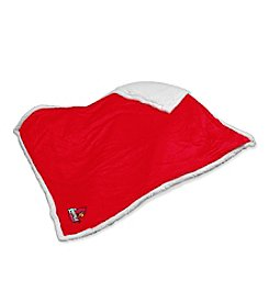 University of Louisville Logo Chair Sherpa Throw