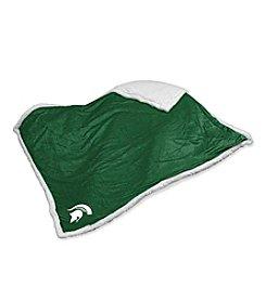 Michigan State University Logo Chair Sherpa Throw