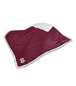 Mississippi State University Logo Chair Sherpa Throw