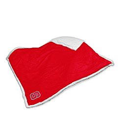 North Carolina State University Logo Chair Sherpa Throw