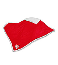 Ohio State University Logo Chair Sherpa Throw