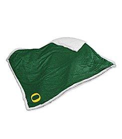 University of Oregon Logo Chair Sherpa Throw