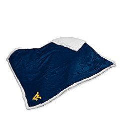 West Virginia University Logo Chair Sherpa Throw