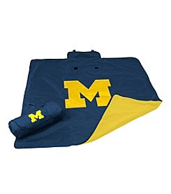 University of Michigan Logo Chair All Weather Blanket