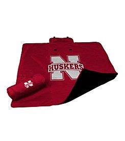 University of Nebraska Logo Chair All Weather Blanket