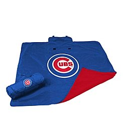 Chicago Cubs Logo Chair All Weather Blanket
