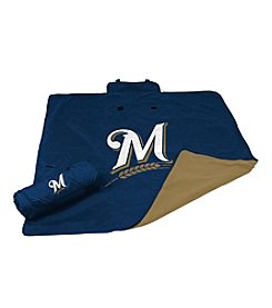 Milwaukee Brewers Logo Chair All Weather Blanket