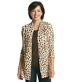 Cathy Daniels Animal Print Layered Look Sweater